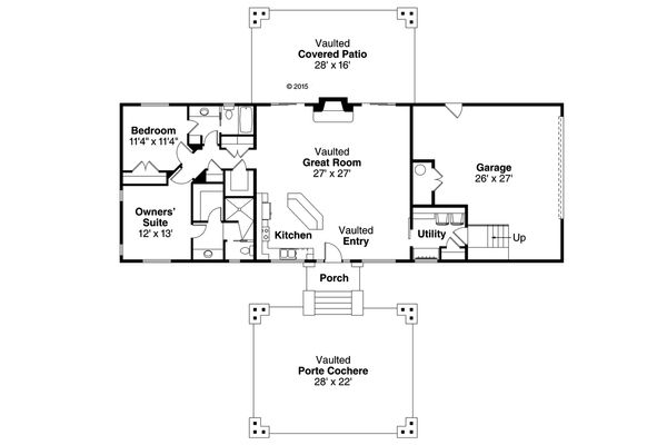 Craftsman Floor Plan - Main Floor Plan Plan #124-1019
