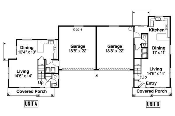 Country Floor Plan - Main Floor Plan Plan #124-1078