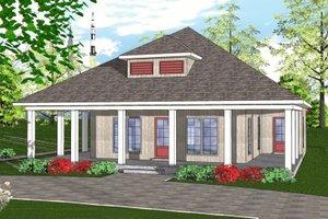 Cottage Exterior - Front Elevation Plan #8-233