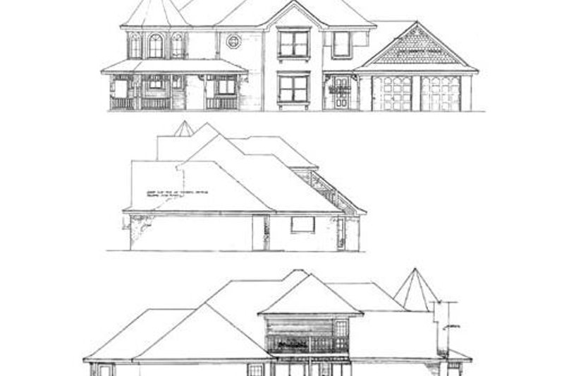 Victorian Exterior - Rear Elevation Plan #310-631 - Houseplans.com
