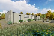 Modern Style House Plan - 3 Beds 2 Baths 1418 Sq/Ft Plan #549-22 Exterior - Rear Elevation