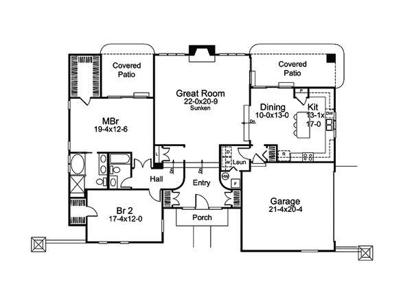 Beach Floor Plan - Main Floor Plan Plan #57-677