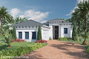 Contemporary Exterior - Front Elevation Plan #930-523