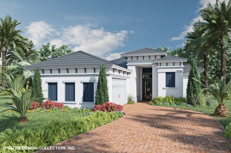 Home Plan - Contemporary Exterior - Front Elevation Plan #930-523
