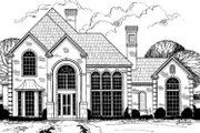 European Style House Plan - 5 Beds 4 Baths 3899 Sq/Ft Plan #317-131 Exterior - Front Elevation