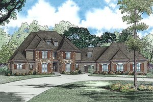European Exterior - Front Elevation Plan #17-2437