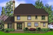 European Style House Plan - 4 Beds 3 Baths 2206 Sq/Ft Plan #48-398 Exterior - Rear Elevation