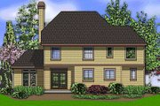 European Style House Plan - 4 Beds 3 Baths 2206 Sq/Ft Plan #48-398 Exterior - Rear Elevation