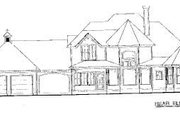 Victorian Style House Plan - 4 Beds 3.5 Baths 2576 Sq/Ft Plan #20-938 Exterior - Rear Elevation