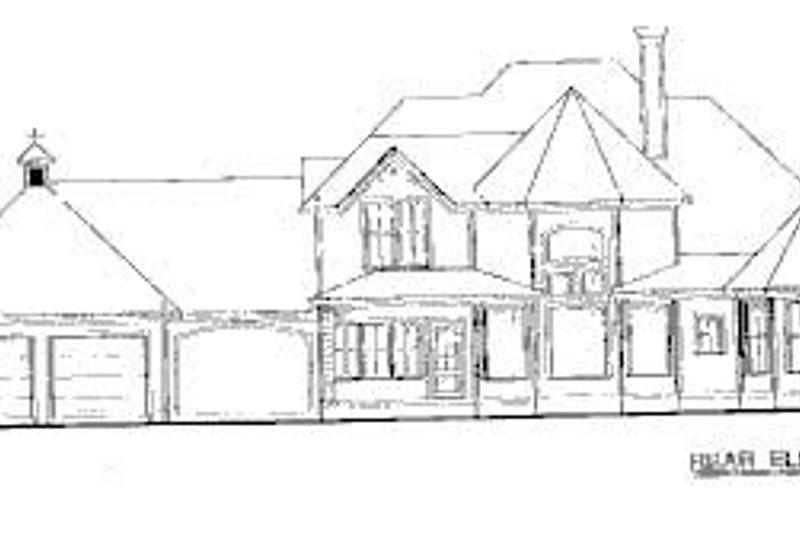 Victorian Exterior - Rear Elevation Plan #20-938 - Houseplans.com