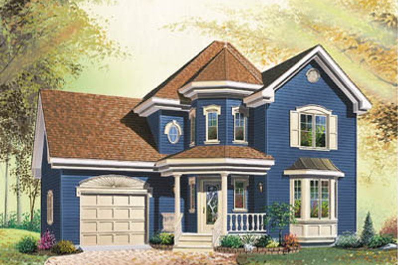 Dream House Plan - Victorian Exterior - Front Elevation Plan #23-211