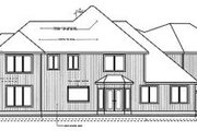 Traditional Style House Plan - 4 Beds 3.5 Baths 3982 Sq/Ft Plan #96-215 Exterior - Rear Elevation