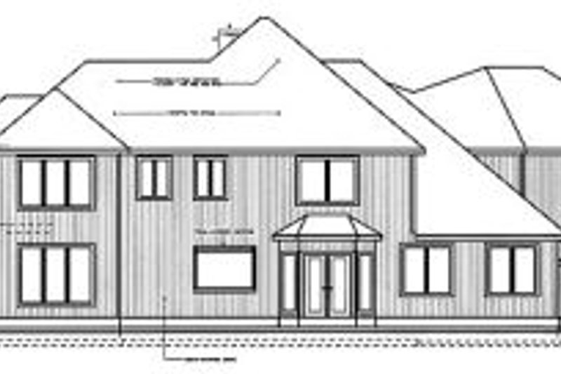 Traditional Exterior - Rear Elevation Plan #96-215 - Houseplans.com