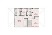 Craftsman Style House Plan - 4 Beds 3 Baths 2546 Sq/Ft Plan #461-62 Floor Plan - Upper Floor
