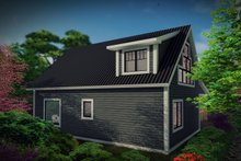 Cabin Exterior - Rear Elevation Plan #70-1476
