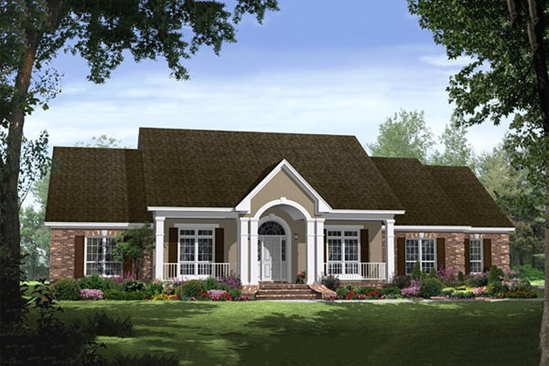 Country Exterior - Front Elevation Plan #21-299 - Houseplans.com