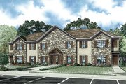 European Style House Plan - 3 Beds 2.5 Baths 6164 Sq/Ft Plan #17-2455 Exterior - Front Elevation