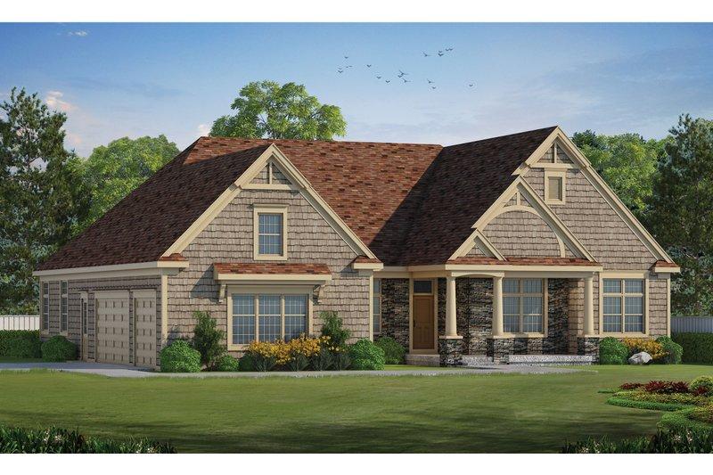House Design - Craftsman Exterior - Front Elevation Plan #20-2471