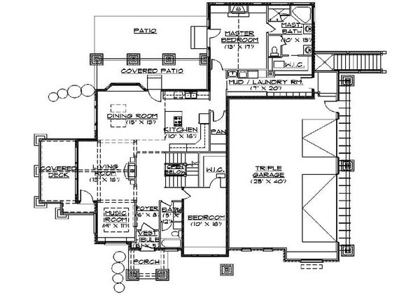 Bungalow Floor Plan - Main Floor Plan Plan #5-384