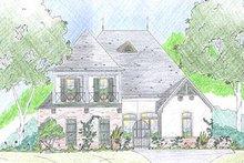 Dream House Plan - Mediterranean Exterior - Front Elevation Plan #36-461