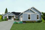 Craftsman Style House Plan - 3 Beds 2.5 Baths 1891 Sq/Ft Plan #461-43 Exterior - Front Elevation