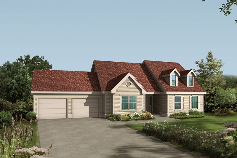 Country Exterior - Front Elevation Plan #57-118