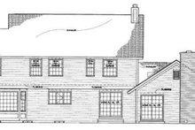 House Blueprint - Traditional Exterior - Rear Elevation Plan #72-156