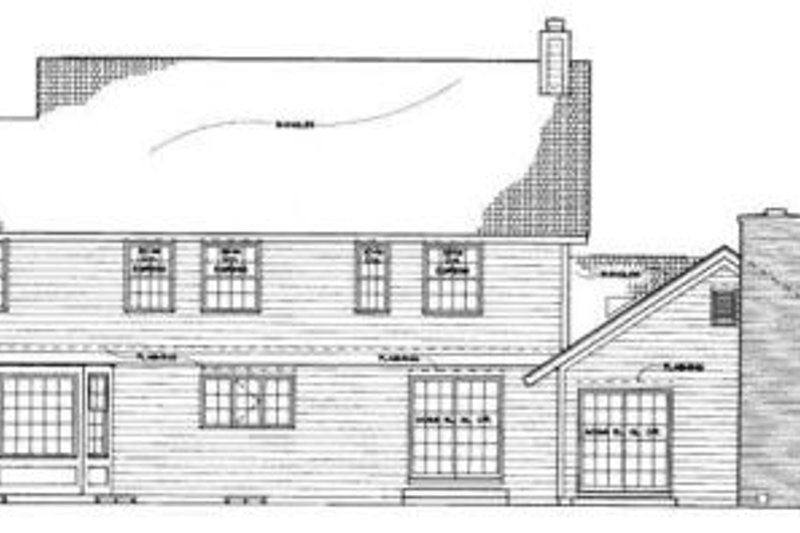 Traditional Exterior - Rear Elevation Plan #72-156 - Houseplans.com