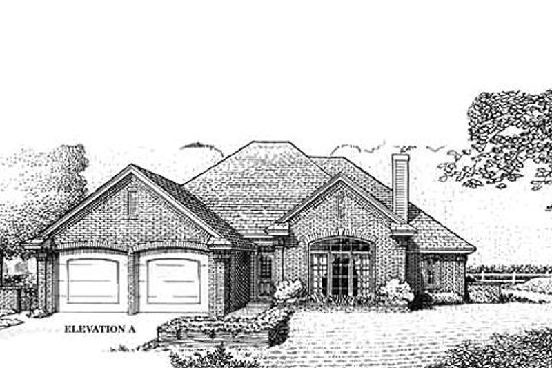 Traditional Exterior - Front Elevation Plan #310-766 - Houseplans.com