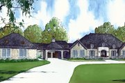 European Style House Plan - 5 Beds 5.5 Baths 5695 Sq/Ft Plan #923-74 Exterior - Front Elevation