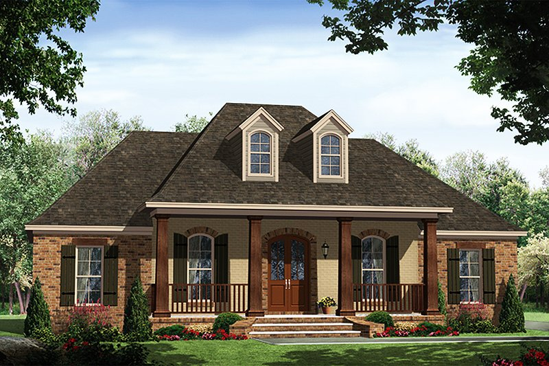 Traditional Exterior - Front Elevation Plan #21-430 - Houseplans.com