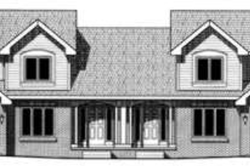 Traditional Exterior - Front Elevation Plan #20-1571