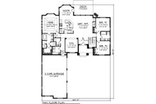 Ranch Floor Plan - Main Floor Plan Plan #70-1098