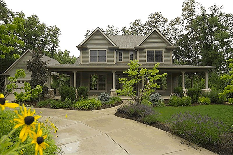 Country Exterior - Front Elevation Plan #20-2041 - Houseplans.com