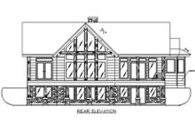 Exterior - Rear Elevation Plan #117-467