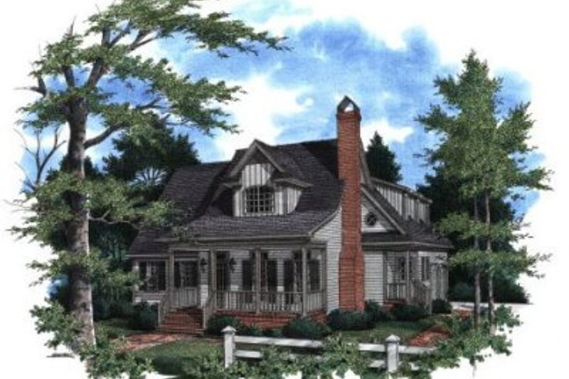 Country Exterior - Front Elevation Plan #41-148