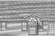 Traditional Style House Plan - 3 Beds 2 Baths 1370 Sq/Ft Plan #70-119 Exterior - Rear Elevation