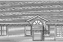 Dream House Plan - Traditional Exterior - Rear Elevation Plan #70-119