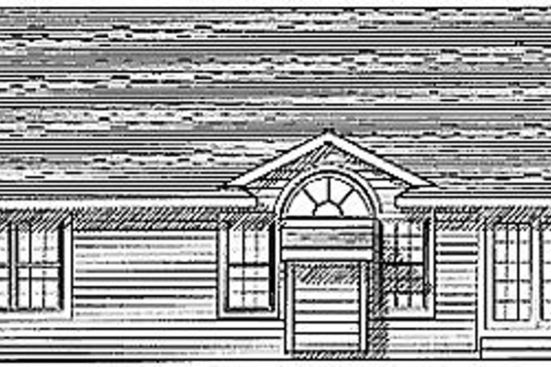Traditional Exterior - Rear Elevation Plan #70-119 - Houseplans.com