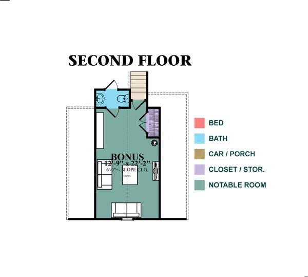 European Floor Plan - Upper Floor Plan Plan #63-348