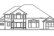 Dream House Plan - Craftsman Exterior - Rear Elevation Plan #124-481