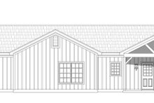 Country Exterior - Rear Elevation Plan #932-76