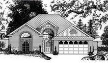 Architectural House Design - European Exterior - Front Elevation Plan #62-107