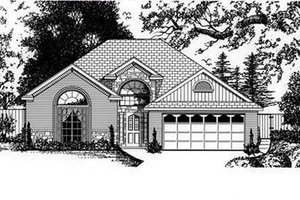 European Exterior - Front Elevation Plan #62-107