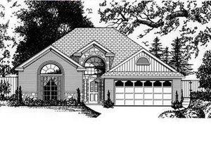 House Plan Design - European Exterior - Front Elevation Plan #62-107