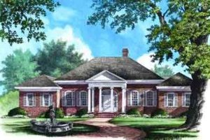 Classical Exterior - Front Elevation Plan #137-238