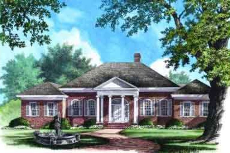 Classical Exterior - Front Elevation Plan #137-238 - Houseplans.com