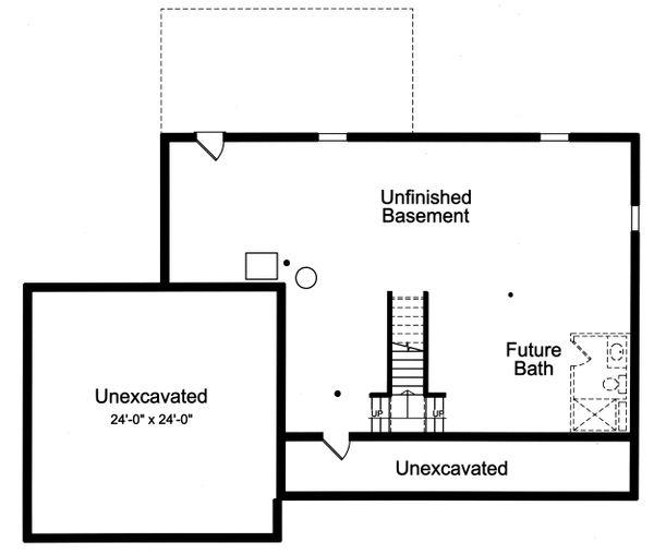 Farmhouse Floor Plan - Lower Floor Plan #46-886