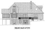 Traditional Style House Plan - 3 Beds 2.5 Baths 2302 Sq/Ft Plan #75-117 Exterior - Rear Elevation