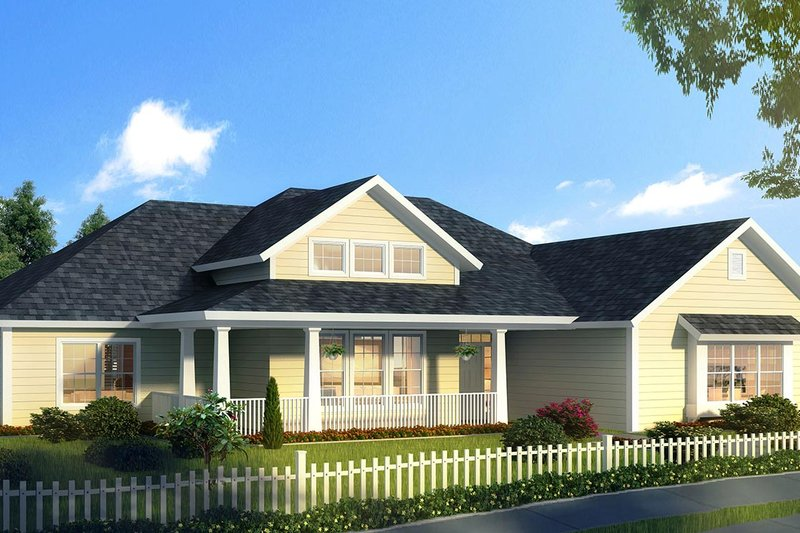 Ranch Style House Plan - 4 Beds 2.5 Baths 2265 Sq/Ft Plan #513-2170 Exterior - Front Elevation